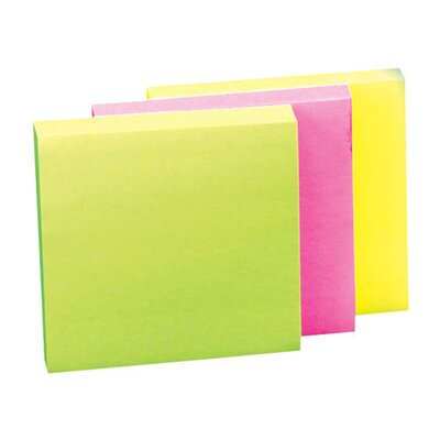 "Sparco Products Adhesive Note Pads, Plain, 3""x3"", 12 Pack:  4 Orange, 4 Pink, 2 Green, 2 Yellow"