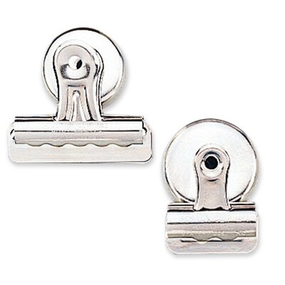 "Sparco Products Bulldog Clip, Magnetic Back, Size 2, 2-1/4""W, 1/2""Cap, 12/BX, SR"