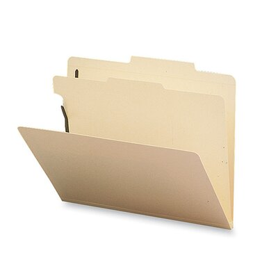 Sparco Products Classification Folder, 1 Divider, Letter, 10/BX, Manila