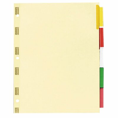 "Sparco Products Ring Binder Indexes, 5-Tabs, 11""x8-1/2"", 50 per Pack"