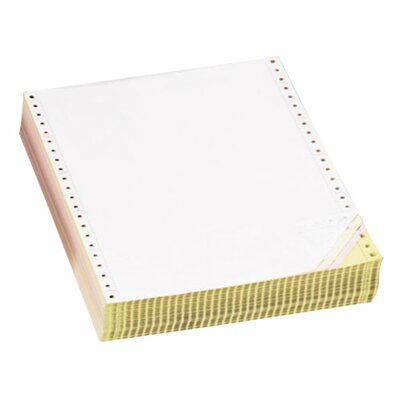 "Sparco Products Computer Paper, Multipart, 3 Parts, 9-1/2""x11"", White/YW/PK"