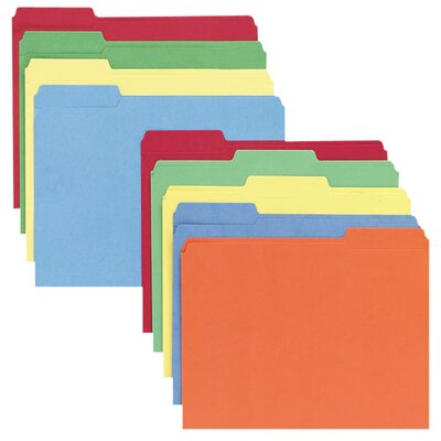 Sparco Products File Folders, 1/3 AST Tab Cut, Letter-Size, 100/BX, AST