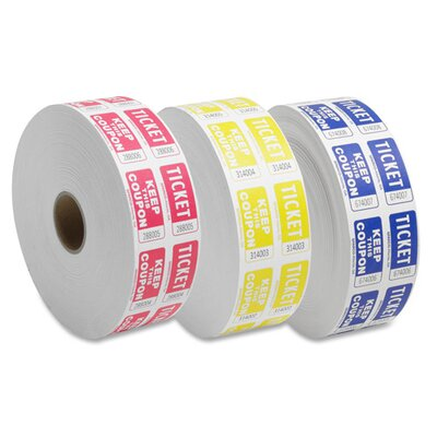 Sparco Products Ticket Roll, Double w/Coupon, 2000/RL, Blue