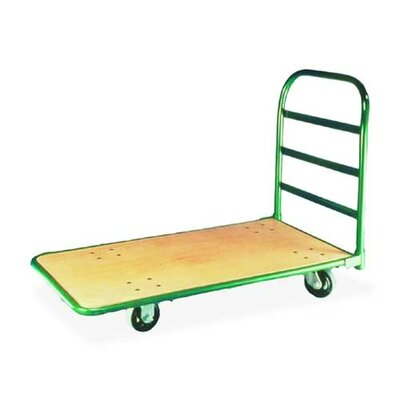 "Sparco Products Heavy-Duty Platform Truck, 1400 lb Capacity, 30""x60""x48"", Green"