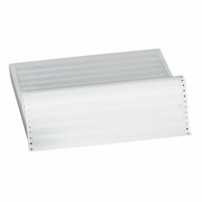 "Sparco Products 1/2"" Green Bar Paper, Perforated, 1 Part, 15 lb., 9-1/2""x11"""