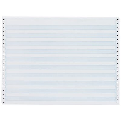 "Sparco Products Computer Paper, 1/2"" Blue Bar, 20 Lb, 14-7/8""x11"", 2400/CT"