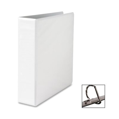 "Sparco Products Locking D-Ring View Binder, 2 ""Capacity,11""x8-1/2"", White/Black"