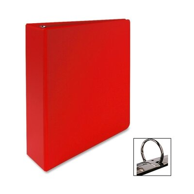 "Sparco Products Vinyl Ring Binder, Letter, 2"" Capacity, Red"