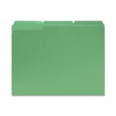 Sparco Products File Folders, 1/3 AST Tab Cut, Letter-Size, 100/BX, Green