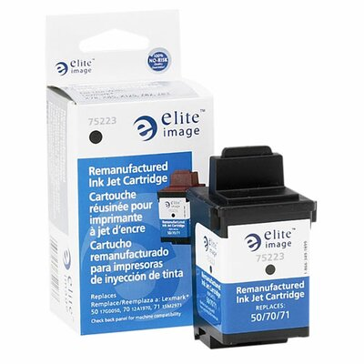 Elite Image Inkjet Printer Cartridge, 600 Page Yield, Black Ink