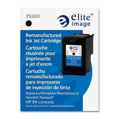 Elite Image Inkjet Cartridge, 11ml, 450 Page Yield, Black