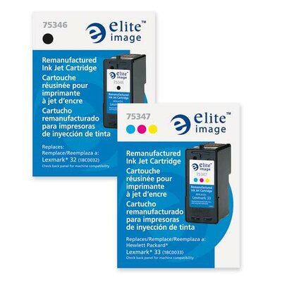 Elite Image Ink Cartridge, 200 Page Yield, Black
