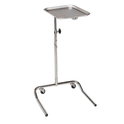 Hausmann Industries Height-Adjustable Mayo Tray Stand, Chrome