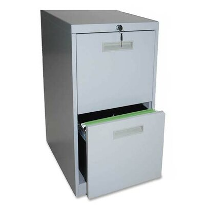 "Lorell 23"" File/File Mobile Pedestal Files, Light gray"