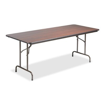 "Lorell 30"" x 72"" Laminate Economy Folding Tables, Mahogany"