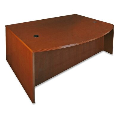 Lorell 88000 Series D-Shaped Bowfront Executive Desk