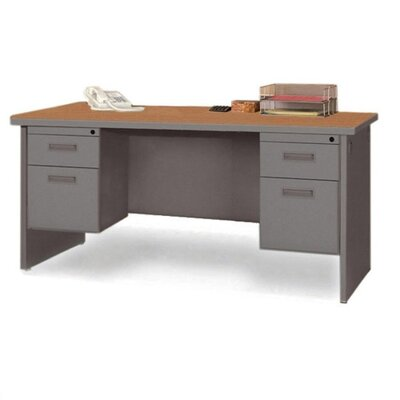 Durable Double Pedestal Computer Desk