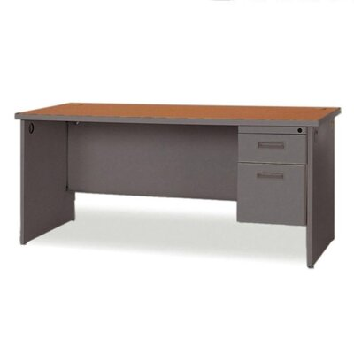 Durable Single Pedestal Computer Desk