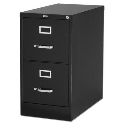 Lorell Deep 2-Drawer Vertical Files, Black
