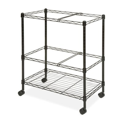 2-Tier Mobile Filing Cart