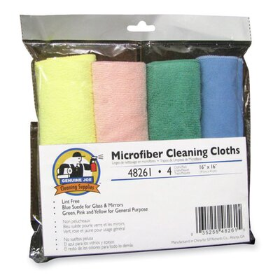 Genuine Joe Microfiber Cleaning Cloths, Blue frost