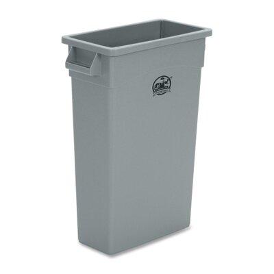 Genuine Joe Space-saving Waste Container, Gray
