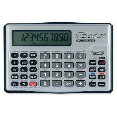 Compucessory Compucessory 10-dgt Handheld Financial Calculator, Silver