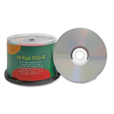 Compucessory Compucessory Branded 16X DVD-R Discs, Silver