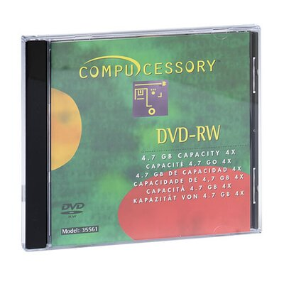 Compucessory Compucessory Branded DVD-RW Disc, Silver