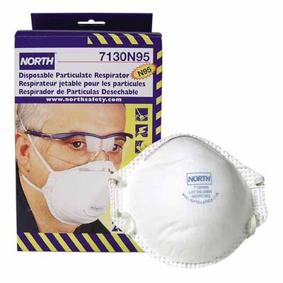 R3 Safety Dust And Mite Respirator, NIOSH/MSHA Rated, 20/BX, White