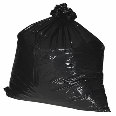 Nature Saver 56 Gallon Recycled Trash Bags, 1.35mil, 100 per Box