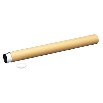 "Nature Saver Economy Recycled Mailing Tubes, 3""x25"", Yellow kraft, 25 per Carton"