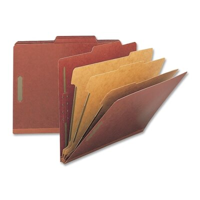 Nature Saver Classification Folders, Letter, 3 Partitions, 10/BX, Red