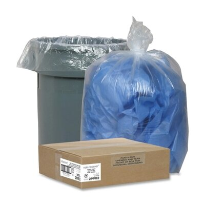 Nature Saver Recycled Trash Can Liners (100 Per Box)