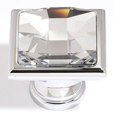 """Alno Inc Swarovski Crystal 1.25"""" Square Knob"""