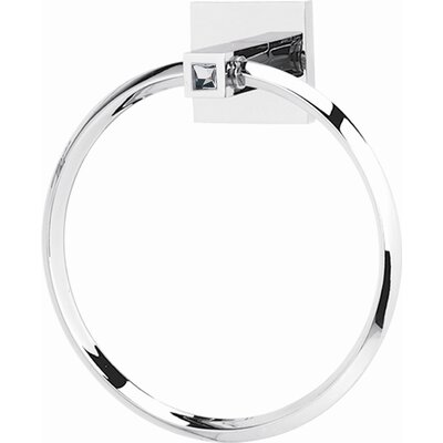 Alno Inc Swarovski Towel Ring with Brass Construction