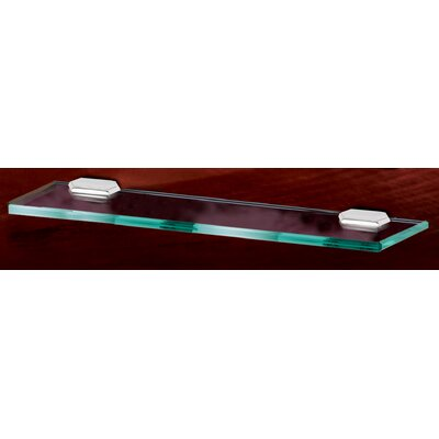 "Alno Inc Nicole 18"" Glass Shelf with Brackets"