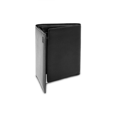 Hartmann Capital Leather Tri-Fold in Black