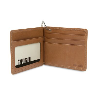 Hartmann J Hartmann Reserve Money Clip Wallet in Natural