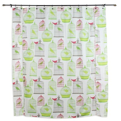 Chooty & Co Flight of Fancy Standard Cut Cotton Shower Curtain