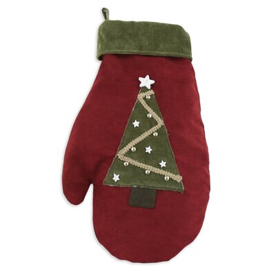 Chooty & Co Passion Suede Cinnabar Tree and Star Mitten