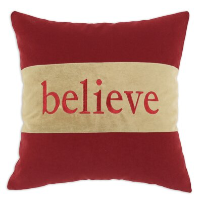 Chooty & Co Hyatt 3 Horizontally Pieced Believe D-Fiber Pillow