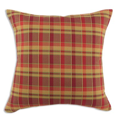 Chooty & Co Plaid Cotton Pillow