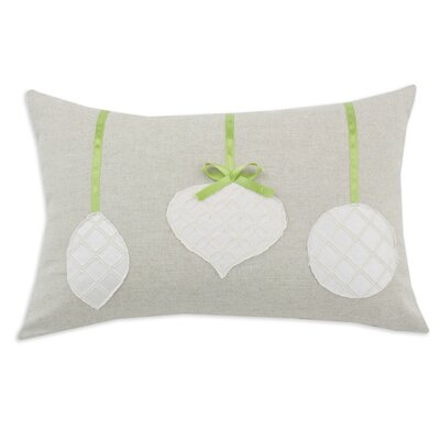 Chooty & Co Linen Natural 3 Brushed Ornaments and Ribbon Pillow