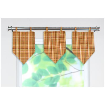 Chooty & Co Upstream Plaid Linen Stitched V Curtain Valance