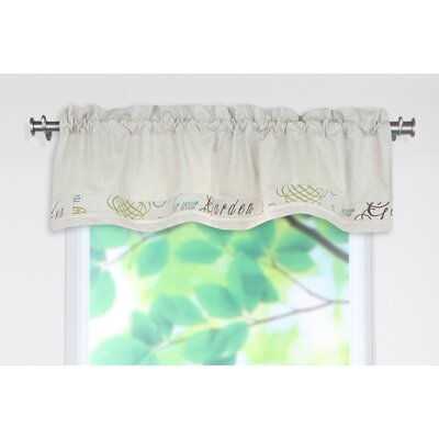 Chooty & Co Cotton Rod Pocket Tailored Curtain Valance
