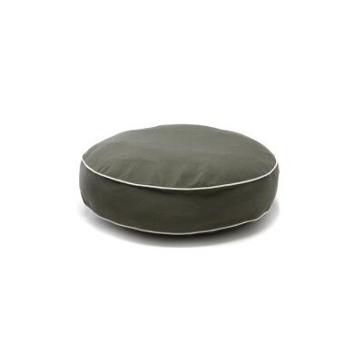 Dog Gone Smart Round Dog Pillow with Ecru Piping