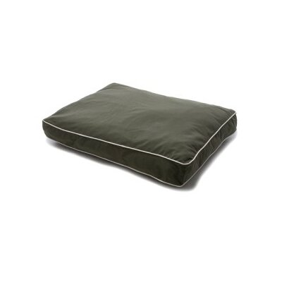 Dog Gone Smart Rectangular Dog Pillow with Ecru Piping