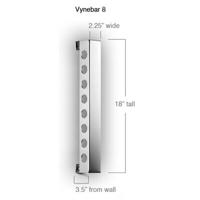 Vynebar Blast 8 Bottle Wall Mounted Wine Rack