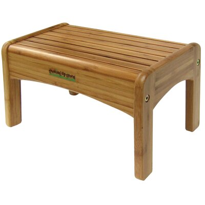 Ginsey GrowingUpGreen Bamboo Wood Step Stool